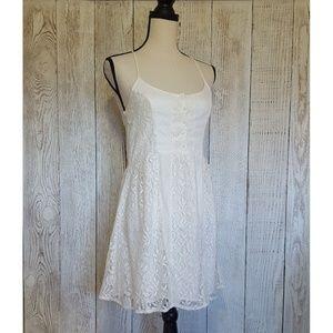 Abercrombie & Fitch White Lace Mini Dress | Small